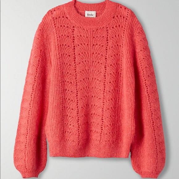 Little Moon Gardenia Pointelle sweater